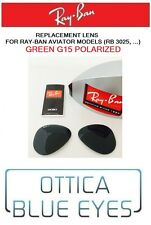 LENTI di Ricambio RAYBAN AVIATOR RB 3025 Ray Ban Replacement Lenses GREEN POLAR
