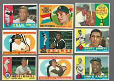 1960 TOPPS BASEBALL COMPLETE SET(572) HIGH GRADE SET WITH SHARP CORNERS