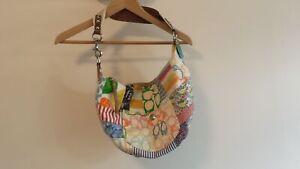 Coach Medium Handbag Canvas Quilted Design Grade B