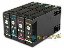 4 T701 non-OEM Ink Cartridges For Epson WorkForce Pro WP-4525DNF WP-4535DWF