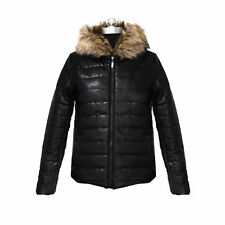 Womens Ladies Quilted Fur Belt Down Jacket Coats Zip Up Parka Outwear Overcoats