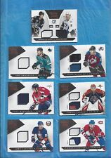 ALEX OVECHKIN 2010-11 LUXURY SUITE JERSEYS LOT 7 DIF THORNTON TAVARES STASTNY