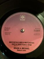 """Brian & Michael Matchstalk Men And Matchstalk Cats And Dogs Vinyl 7"""" Single 1977"""