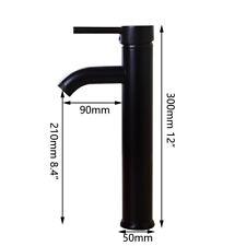 US Black Oil Bathroom Basin Sink Mixer Faucet Single/Dual Handle Brass Tap