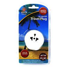 Sicuro di Viaggio Europea EU USA a UK Travel adattatore di alimentazione singola confezione x 1 Plug
