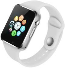 Bluetooth Smart Watch For Kids Adults With Camera Touch Screen WHITE