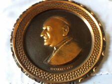 PIATTO da muro arredo PAPA GIOVANNI XXIII in rame vintage copper diametro 30 cm