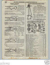 1922 PAPER AD 5 PG Stewart's Sheep Shearing Machine Hand Power Crank Parts Fix