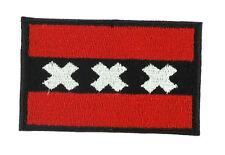 Parche bandera PATCH AMSTERDAM PAISES BAJOS 7x4,5cm bordado termoadhesivo nuevo