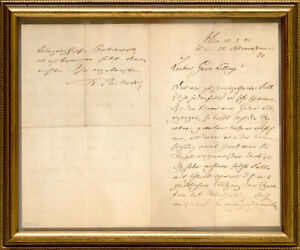 Christian Albrecht Theodor Billroth: Handschriftl. Brief mit Unterschrift. 1881.