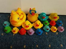 21 Novelty Fun Assorted Size And Colour Rubber Bath Ducks