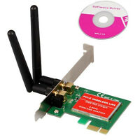 PCI Express PCI-e 300Mbps IEEE 802.11b/g/n Wireless WiFi Network Card Adapter HY