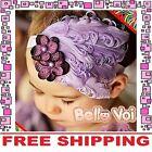 Purple Feather Headband Hairband Accessories Girls Baby Infant Toddler Children
