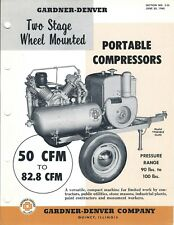Equipment Brochure - Gardner-Denver - Wheel Mounted Compressors - 1960 (E4860)