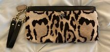 NWOT COACH Madison Leopard Ocelot Haircalf Wristlet Wallet