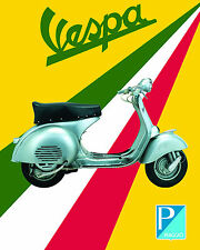 Vespa Scooter Advertising Poster - 8x10 Color Photo