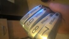 Lot of 6 Vintage Wilson 1200 Forged Muscle Back Irons Counter Torque NEW GRIP gc