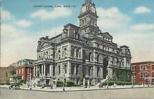 OLD VINTAGE COURT HOUSE IN LIMA OHIO 1955 LINEN POSTCARD