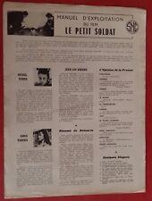 Manuel d'Exploitation LE PETIT SOLDAT Anna Karina JEAN-LUC GODARD Michel Subor *