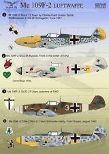 Print Scale 1/72 Messerschmitt Bf 109F-2 # 72048