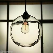 Glass Shade Vintage Industrial Fitting Ceiling Pendant Light Bar Lamp Chandelier 1 Light 60w Filament Bulb