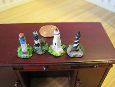 Dollhouse Miniature ~ Assorted Light House Figurines ~ Home Decor ~