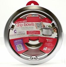 Range Kleen - Drip bowls Electric range, C-Style, #179A Heavy Duty Chrome