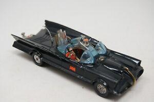 VINTAGE CORGI BAT MOBILE WITH BOTH ORIGINAL FIGURES /  TOW HOOK