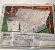 Pequot Twin Flat Sheet Rosebuds Yellow Floral Vintage New in Package Usa
