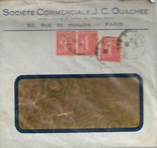 FRANCE COVER WITH THREE 50c RED  CIRCA 1928   MY REF  435
