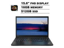 "Lenovo ThinkPad E15 15.6"" FHD AMD Ryzen 5 4500U 512GB Ssd 16GB Ram Win 10 Pro"