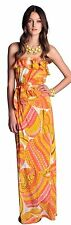 Trina Turk For Banana Republic Sonya Patio Maxi Dress In Pink Pisces 4 100% SILK