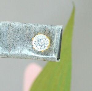 22K THAI BAHT DP YELLOW GOLD ~ 2 CT SOLITAIRE SML DIAMOND STUD POST EARRINGS