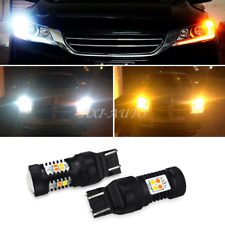 AUXITO 2x 7443 7444NA Dual Color White Amber LED Switchback Turn Signal Lights