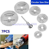 7X HSS Circular Saw Blade Set For Drill Dremel Rotary Tool Cutting Wheel Discs