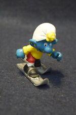Vintage Schleich Skiing Smurf Figure