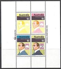 Australia 1976 STAMP WEEK Miniature Sheet Unh Mint with ERRORS/FLAWS, ACSCV $30