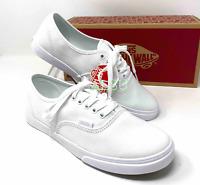 VANS Authentic Low Pro True White Canvas Sneakers Women SIZE 6.5 - 9 VN000GYQW00