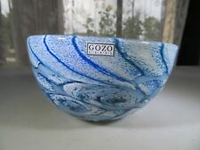 """Gozo Malta Glass bowl """"collection The Big Blue by Besson"""" Novaro style"""