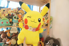 Summer Winking  Hawaii Pikachu with Flower Plush Doll BANPRESTO  Toy