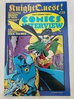 DAVID ANTHONY KRAFT'S COMICS INTERVIEW MAGAZINE #125 1993 BATMAN KNIGHT QUEST!