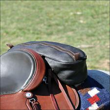 CLASSIC EQUINE CASHEL LEATHER SHAPED CONTOURED HORSE SADDLE CANTLE BAG