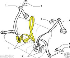Genuine Fiat Doblo Centre Middle Rear Back Seat Safety Belt * Brand New *
