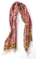 Lucky Brand Giraffe Ethnic Print Wool Blend Scarf Multicolored 23 x 68 Fringe