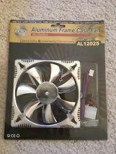 NEW Evercool 120mm x 25mm 12v Aluminum Low Noise Frame Case Fan Silver AL12025