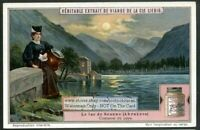 Italy Lake Of Scanno Lago Lac Abruzzez 1920s Trade Ad Card