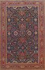 Antique Vegetable Dye NAVY Heriz Serapi Area Rug Hand-knotted Geometric 9x12