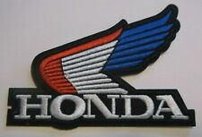 """Honda Wing Patch~Biker~Motorcycle Racing~3 5/8"""" x 2 5/8""""~Embroidered~Iron Sew"""