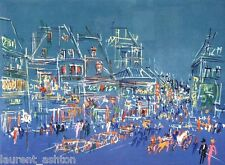 JEAN DUFY (AFTER)  LITHOGRAPH CIRCA 1950 HAND SIGNED