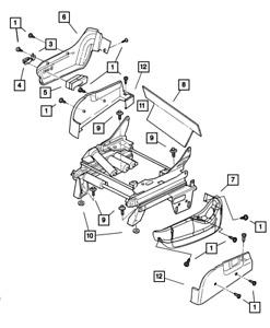 Genuine MOPAR Power Seat Switch Knob Left 4685381AB